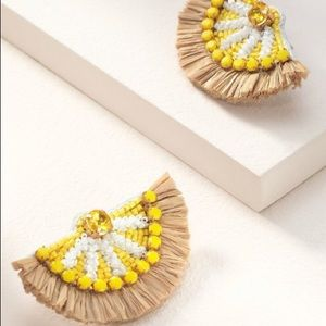 Stella & Dot Embroidered Lemon Earrings